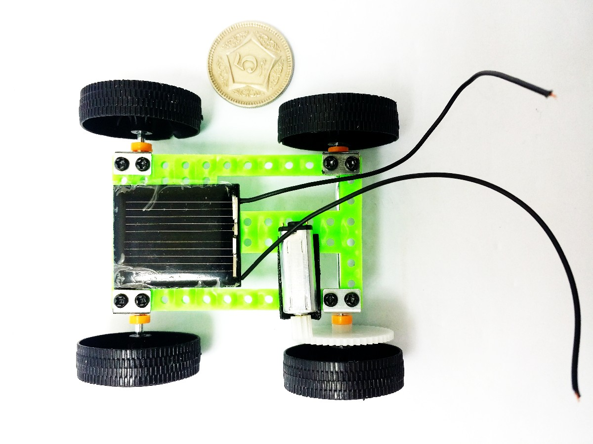 solar powered mini car DIY science kit